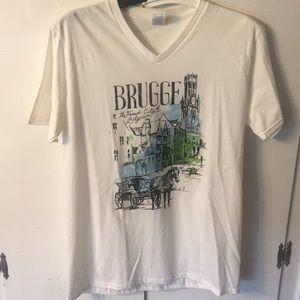 Brugge, The Proud City of Belgium Adult Tee, L